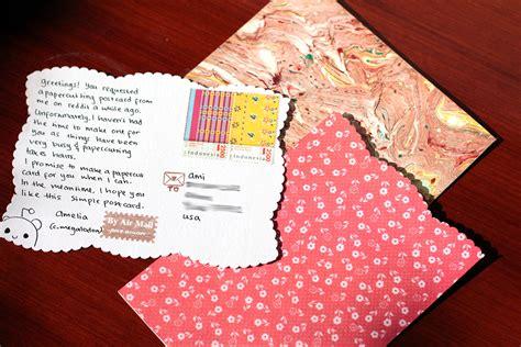 diy simple handmade postcards amel writes