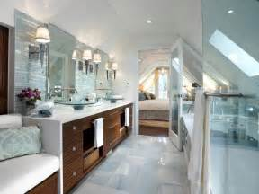 Hgtv Bathrooms Ideas Serene Attic Bathroom Retreat Candice Began This Attic Transformation By Gutting The Space And