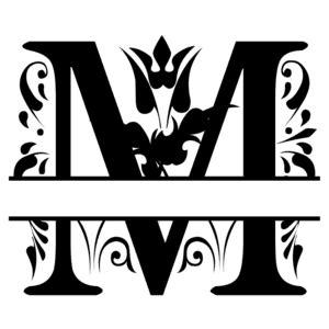 fancy split font monogram letters patterns monograms stencils diy projects