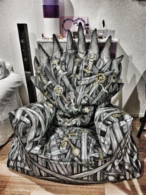 iron throne bean bag game of thrones enthusiast behold the diy iron throne bean bag freshome com