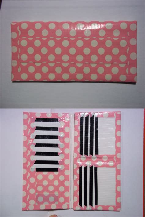 pink polka dot duct womens wallet by areusbookworm on