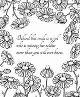 Coloring Husband Wife Notes Military Soldier Couples sketch template