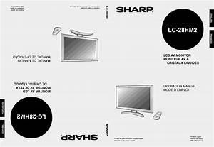 Notice Sharp Lc-28hm2