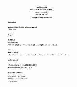 9 sample high school resume templates pdf doc free for Free resume for high school student