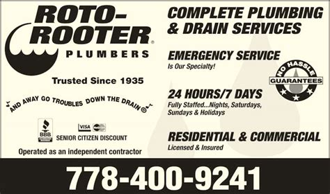 roto rooter plumbing drain services roto rooter plumbing drain service bc 1002