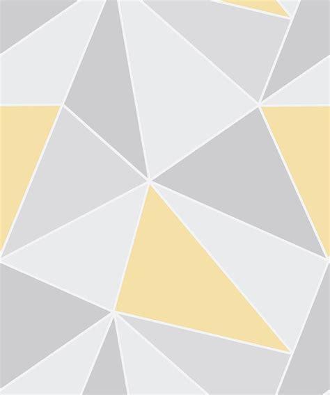 Wallpaper mustard and grey