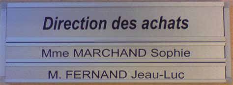 plaque de bureau personnalisé plaque de bureau en aluminium anodisé 180 65 mm