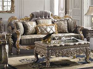 Covina high end formal living room set von furniture for High end living room sets