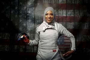 For Muslim-American fencer, Olympic goal extends beyond medals