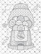 Coloring Gumball Machine Bookmark Coded Zentangle Drawing Mystery Pdf Bookmarks Weave Getcolorings Getdrawings Poppy Printable Flowers Col Colorings sketch template