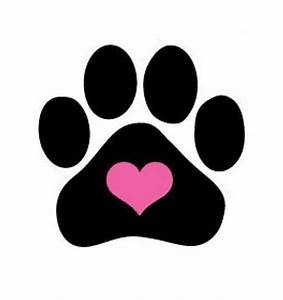 dog paw print images heart shaped paw print clip art 34