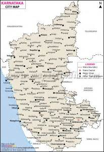 Karnataka Cities Map