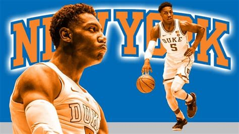 york knicks nba draft profile duke  rj barrett
