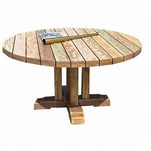 Table Ronde En Teck : table de jardin ronde en teck topiwall ~ Teatrodelosmanantiales.com Idées de Décoration