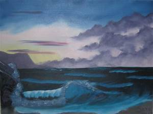 Bob Ross style Seascape by LaughingStockStables on deviantART