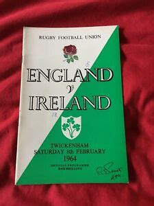 1964 ENGLAND V IRELAND FIVE NATIONS INTERNATIONAL RUGBY ...
