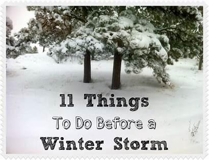 Storm Winter Things Before Preparedness Storms Emergency