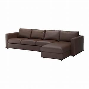 Canapé 4 Places Ikea : vimle canap 4 places avec m ridienne farsta brun fonc ~ Teatrodelosmanantiales.com Idées de Décoration