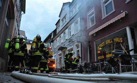 Brand Eines Imbissladens In Der Offenburger Altstadt