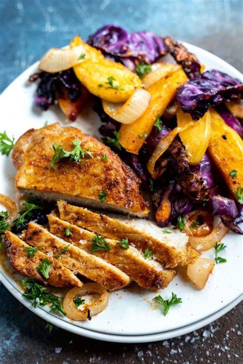 fryer pork air chops apples cook boneless chop recipes recipe cabbage easy sliced tasty tastyairfryerrecipes