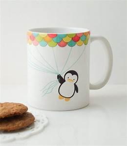 Tassen Bemalen Stifte : fly high penguin mug cup cute gifts ~ Yasmunasinghe.com Haus und Dekorationen