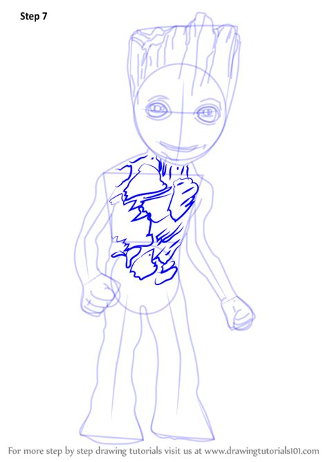 learn   draw baby groot marvel comics step  step