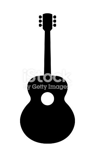 acoustic guitar silhouette stock vector art  images