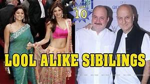 10 Bollywood Celebrities & Their Look-Alike Siblings - YouTube