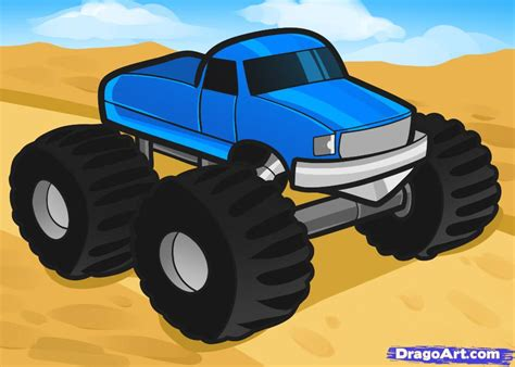 monster truck for children how to draw a monster truck for kids step by step cars