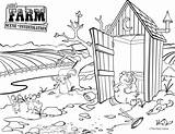 Outhouse Coloring Template Pages sketch template