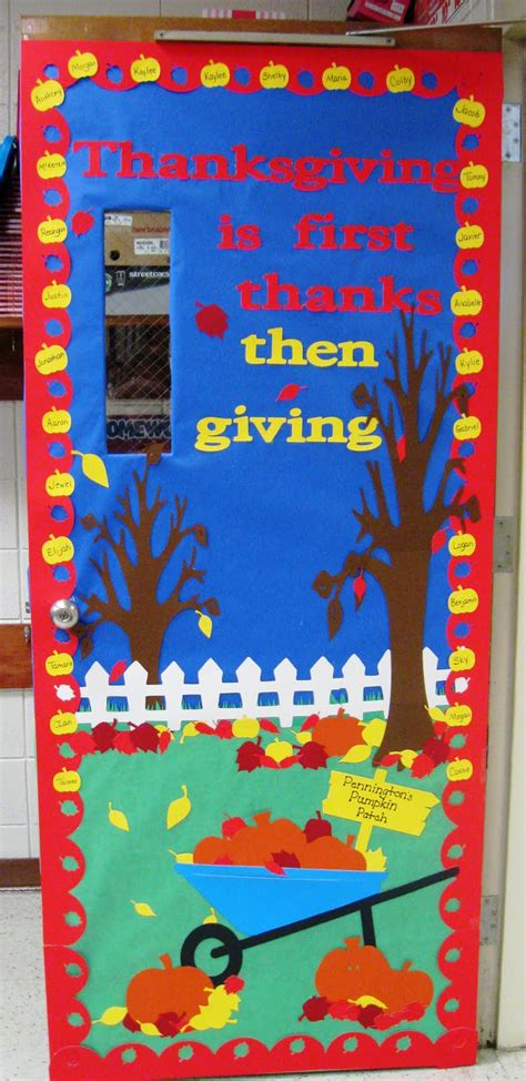 Thanksgiving Classroom Door Decorations by Daily Grace Creations 4th Grade Classroom Door Thanksgiving