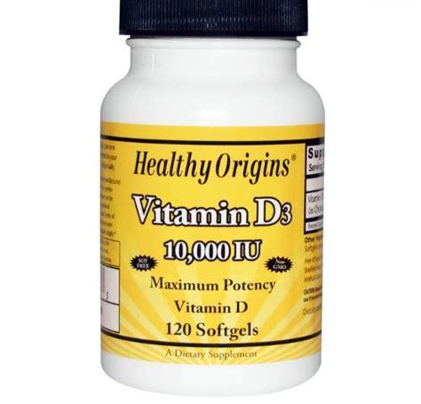 Acquistare Healthy Origins, vitamina D3, 10.000 IU, 120 ...