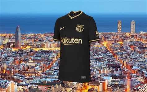 The Nike away kit of the Barcelona 2020/2021