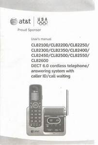 At U0026t User U0026 39 S Manual For Dect 6 90 Cordless Telephoe