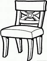 Chair Coloring Zoom sketch template