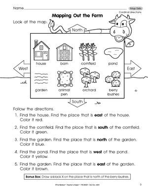 results for map skills using cardinal directions guest