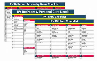 Rv Packing Checklists Lists Trip Checklist Ultimate