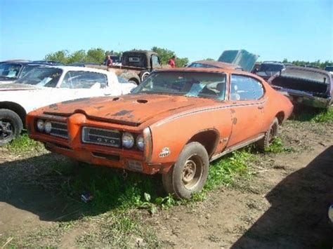 An Abandoned Gto  Muscle Car