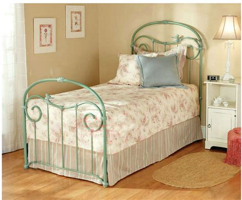 Ornate French Provincial Style Bird Iron Bed Ends Frame