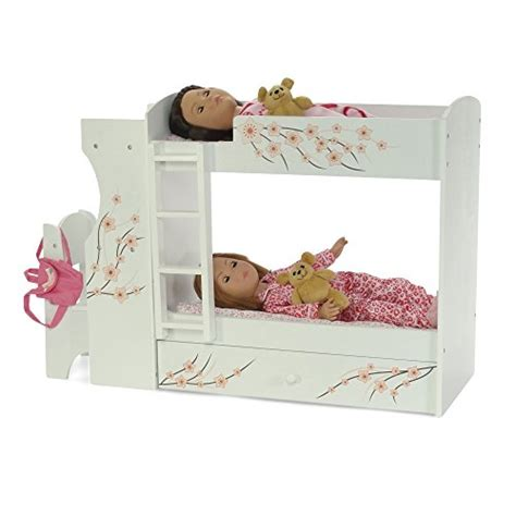 american bunk bed with desk fits american doll bunk bed desk combo 18 quot inch dolls