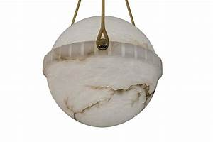 Lighting fixture globes : Swedish alabaster globe light fixture at stdibs