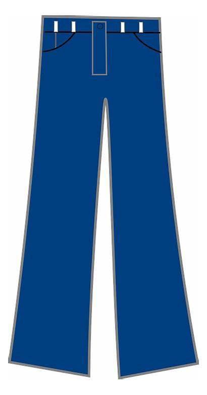 Jeans Pants Clip Denim Cartoon Clipart Trousers