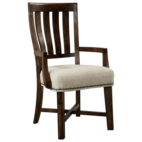 broyhill furniture pieceworks arm chair with upholstered