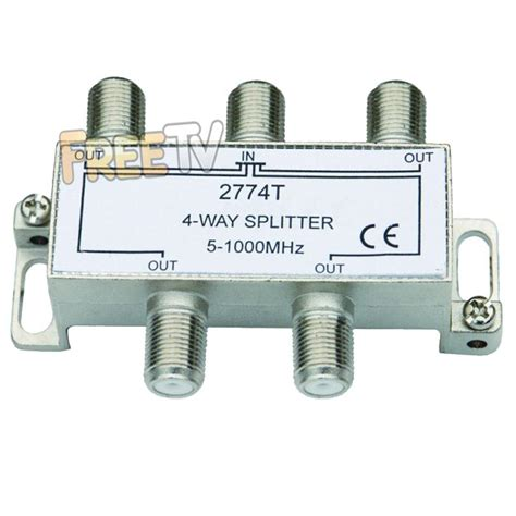 4 way tv splitter to run tv signal to up to 2 tvs