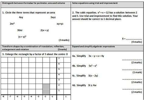 gcse maths worksheet 1 ideas for the house