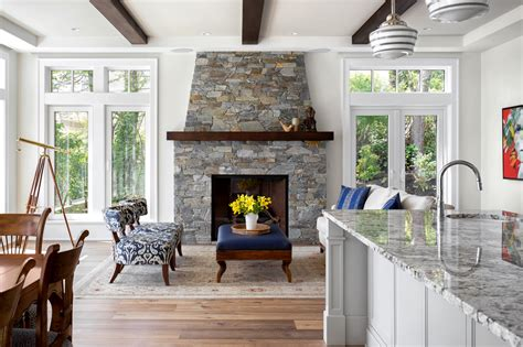 classic french country style waterfront custom home  british columbia idesignarch interior