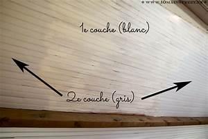 Comment Peindre Du Lambris : peindre un plafond en lambris en un week end et transfigurer une pi ce ~ Melissatoandfro.com Idées de Décoration