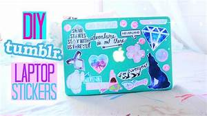 diy tumblr inspired laptop stickers youtube With how to make sticker labels