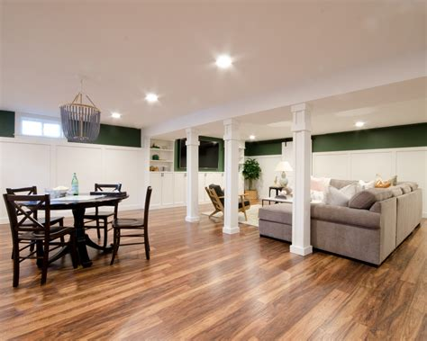 Finished Basement Family Room Makeover Start To Finish