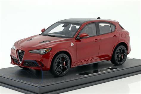 alfa romeo stelvio quadrifoglio   auto show  red